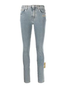 Off-White - Skinny faded effect jeans in light blue
