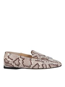 Sergio Rossi - Leather slippers animalier