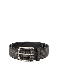 Orciani - Soapy print leather belt in black