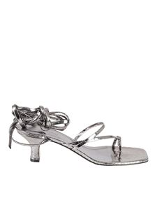 Paris Texas - Betty sandals in silver color