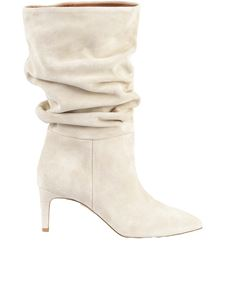 Paris Texas - Slouchy boots in ivory color