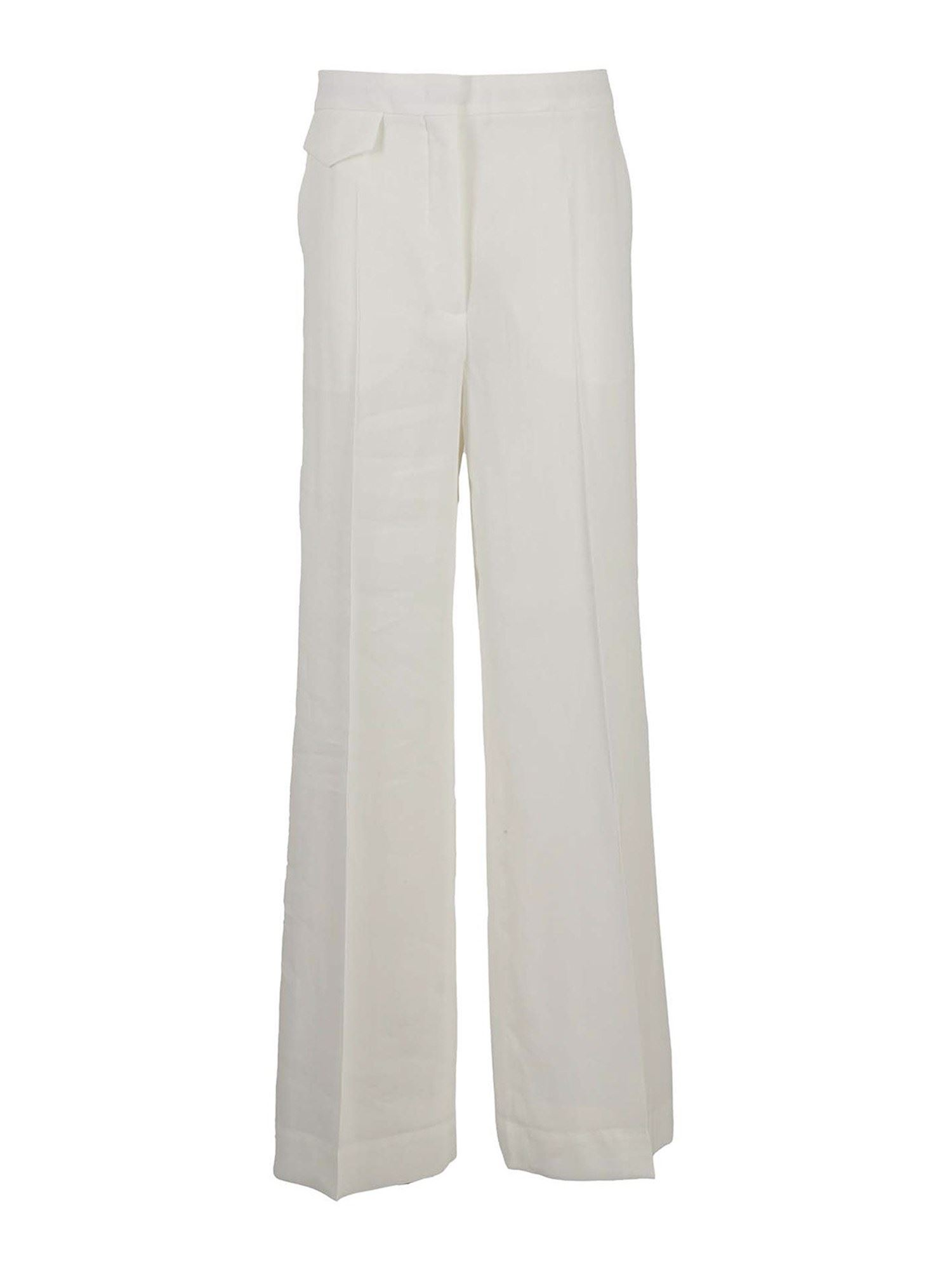 Sportmax CLARION PALAZZO TROUSERS IN WHITE