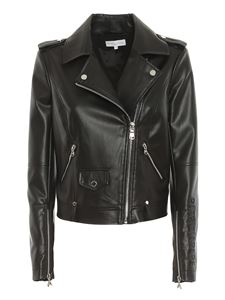Patrizia Pepe - Faux leather biker jacket in black