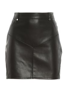 Patrizia Pepe - Faux leather miniskirt in black