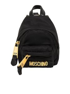 Moschino - Backpack with shoulder strap in black
