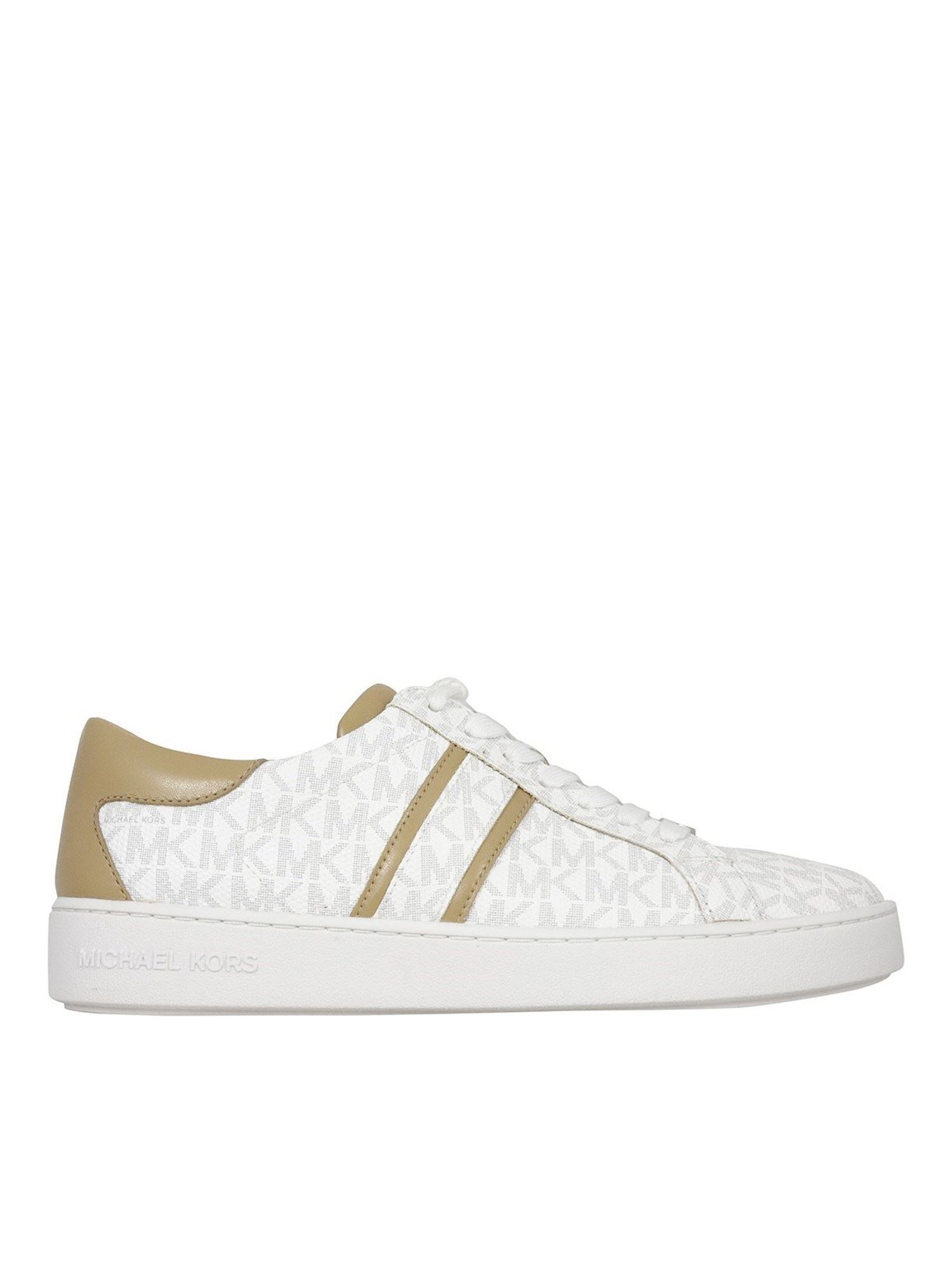 Michael Kors Leathers KEATON SNEAKERS IN WHITE
