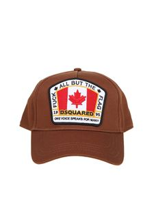 Dsquared2 - Logo patch baseball cap in brown