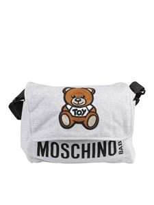 Moschino Kids - Teddy embroidery changing bag in grey