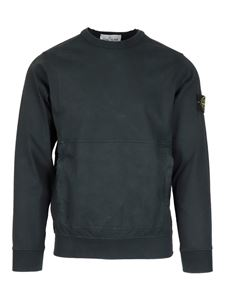 Stone Island - Pouch pocket cotton sweater in black