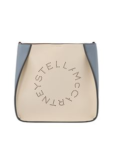 Stella McCartney - Shoulder bag in ivory and light blue
