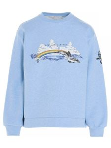 Stella McCartney - Rainbow Dolphin sweatshirt in light blue