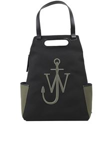 JW Anderson - Anchor recycled fabric backpack in black