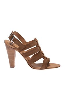 Anna F. - Suede sandals in Bruciato color
