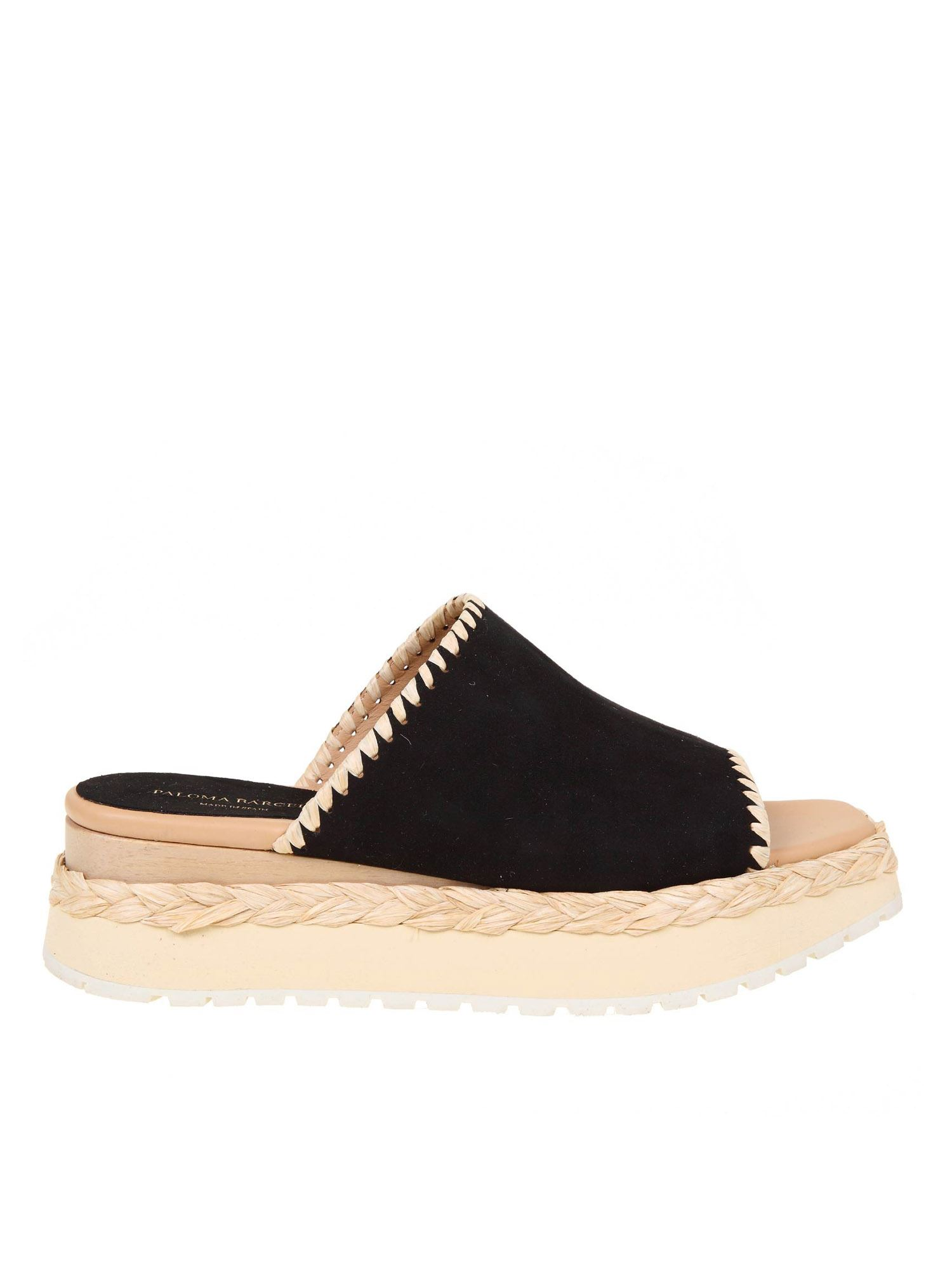 Paloma Barceló APAPORIS SANDALS IN CAMOSCIO AND BLACK