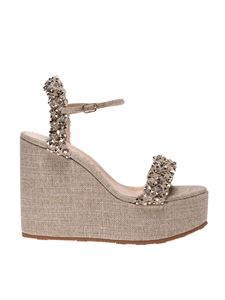 Casadei - Matrix wedges in Silver and Gold color