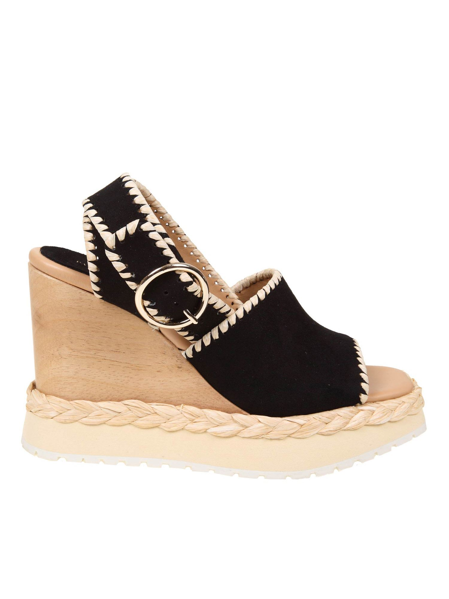 Paloma Barceló APURE SANDALS IN CAMOSCIO AND BLACK