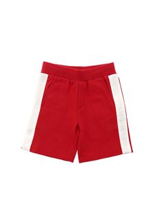 Moncler Jr - Fleece bermuda shorts in red
