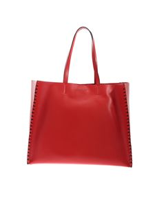 Orciani - Grande Liberty Mesh shopper bag in red