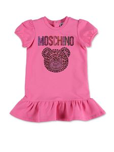 Moschino Kids - Crystals Teddy Bear dress in pink