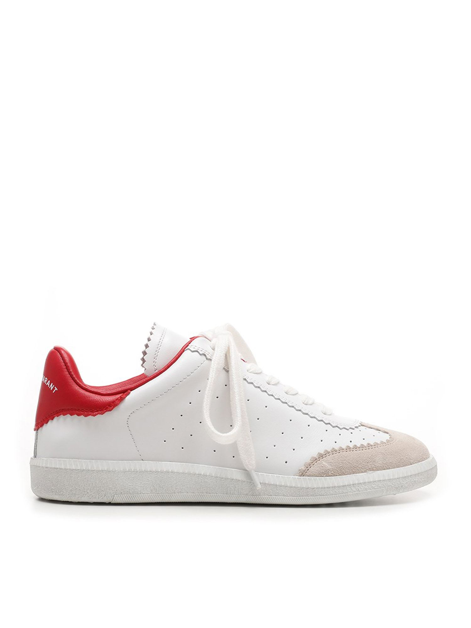 Isabel Marant ISABEL MARANT BRYCE SNEAKERS IN RED AND WHITE