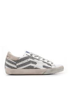 Golden Goose - Crystals Superstar sneakers in white and silver