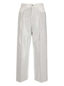 Golden Goose - Jeans Breezy bianchi con strass