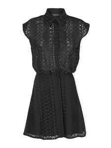 Federica Tosi - Lace shirt dress in black