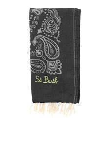 MC2 Saint Barth - Bandana beach towel in black