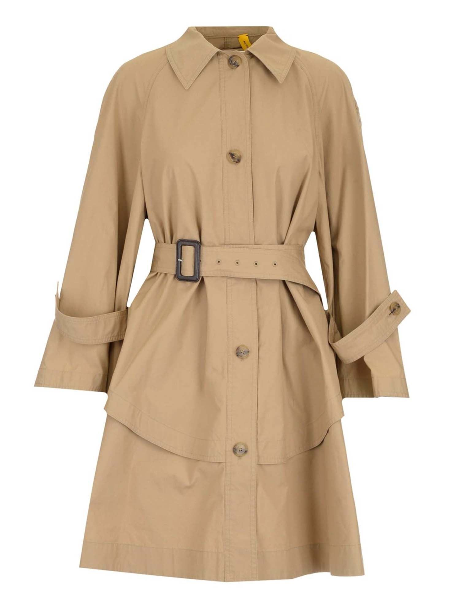 Moncler Genius DUNGENESS MONCLER JW ANDERSON TRENCH COAT IN BEIGE