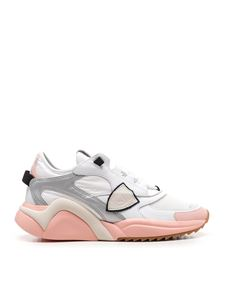 Philippe Model - Sneakers Eze low bianche e rosa
