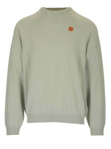 Kenzo - Tiger Crest oversized sweater in light green