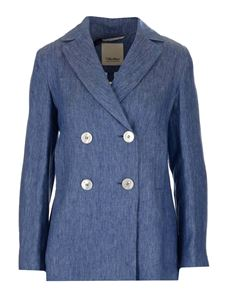 S Max Mara - Double-breasted jacket in blue