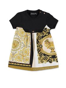 Versace Young - Barocco printed dress in black