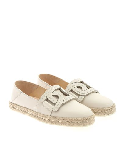 Tod's - Chain espadrilles in ice color