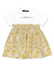 Versace Young - Barocco printed dress in white
