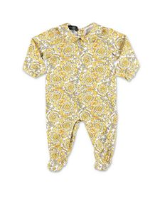 Versace Young - White and yellow baroque print set