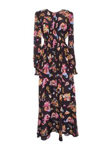 Versace Jeans Couture - Rococo printed long dress in black