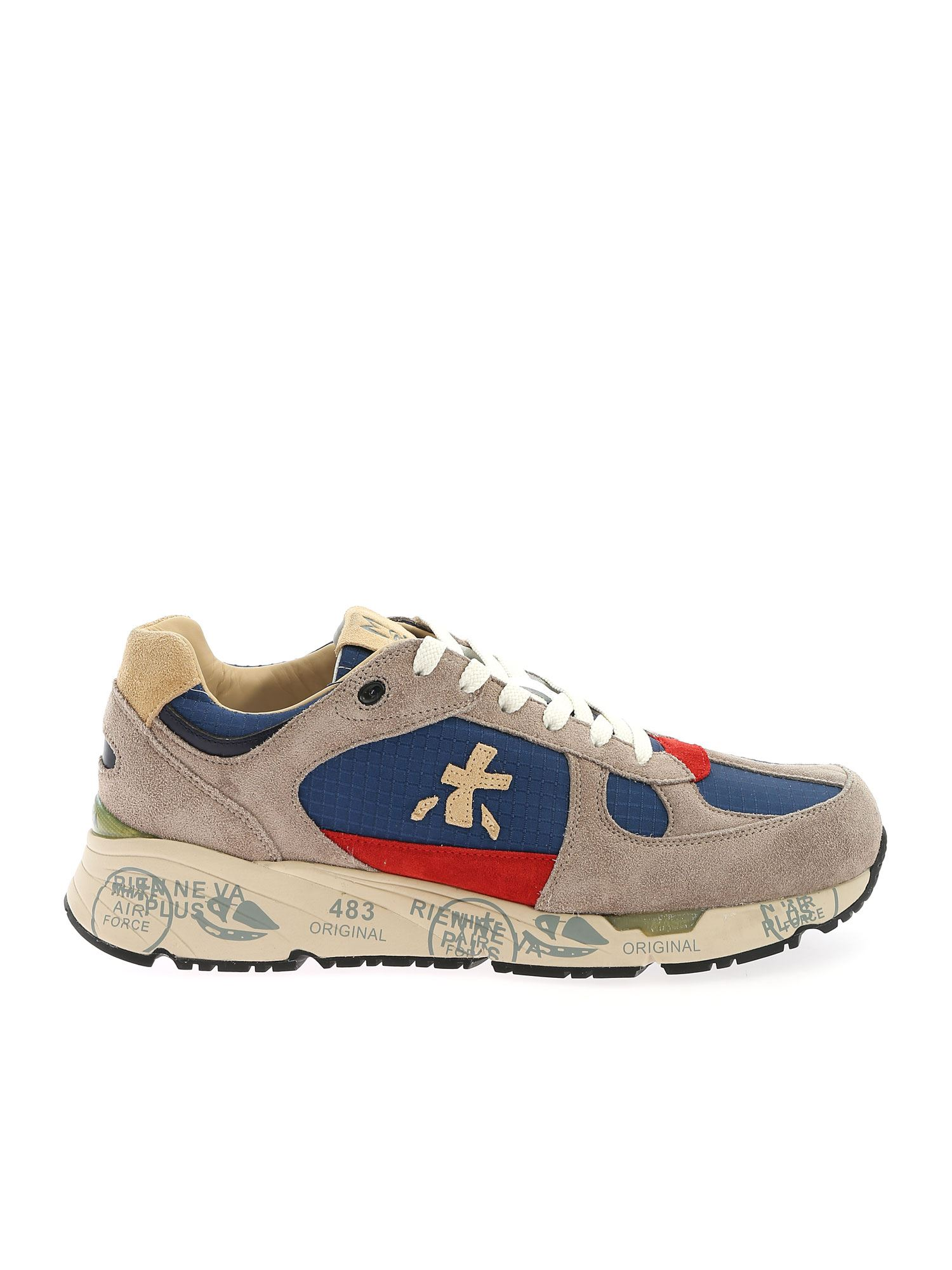 Premiata Sneakers MASE SNEAKERS IN GREY AND BLUE