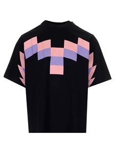 Marcelo Burlon County Of Milan - T-shirt Wings nera e rosa