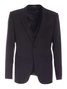 Emporio Armani - Single-breasted suit in dark blue