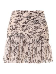 Zimmermann - Pleated mini skirt in pink and black