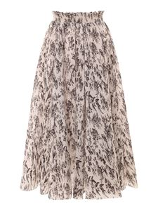 Zimmermann - Pleated long skirt in pink and black