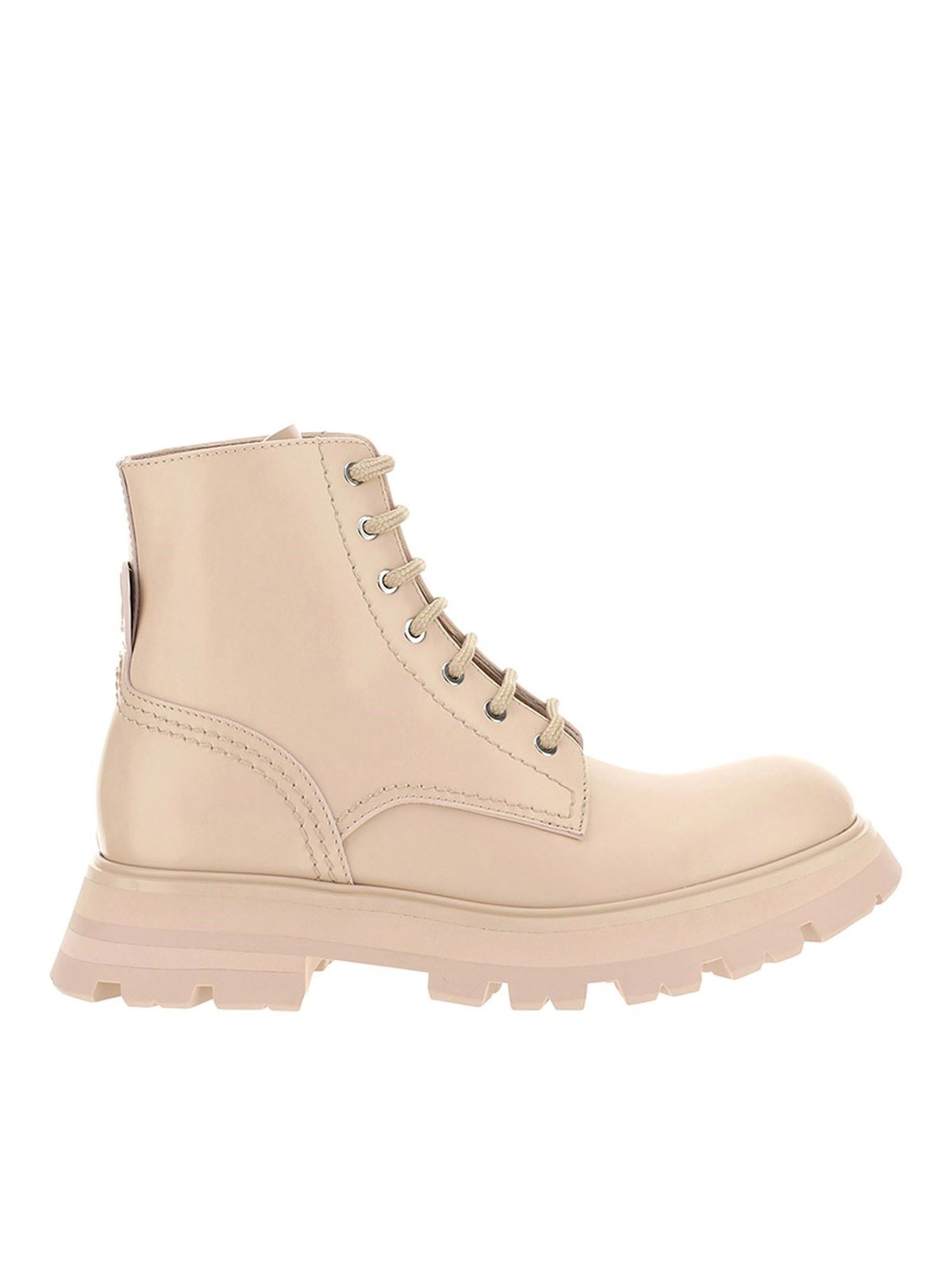 Alexander Mcqueen ALEXANDER MCQUEEN WANDER COMBAT BOOTS IN BEIGE