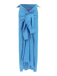 Balenciaga - Striped skirt in light blue
