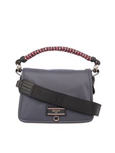 Bally - Ekyra nylon flap closure bag in grey