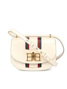 Bally - Baily calfskin bag with contrasting stripe in cream