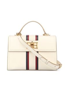 Bally - Brettie calfskin bag with contrasting stripe in cream
