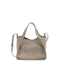 Stella McCartney - Drilled logo Tote bag in dove grey color