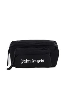 Palm Angels - Marsupio in nylon con logo nero
