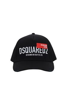Dsquared2 - Cappello da baseball nero in cotone